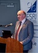18 September 2018; Uachtarán Chumann Lúthchleas Gael John Horan speaking during the launch of the ESRI Report into Playing Senior Intercounty Gaelic Games at Croke Park in Dublin. Photo by Sam Barnes/Sportsfile