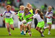 16 September 2018; Action from the Half-time GO Games during the TG4 All-Ireland Ladies Football Championship Finals at Croke Park, Dublin. Photo by Eóin Noonan/Sportsfile