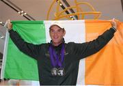 19 September 2018; Padraig McCarthy during an Irish Eventing Team welcome home at Dublin Airport in Dublin. Photo by Eóin Noonan/Sportsfile