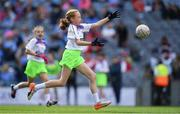 16 September 2018; Action from the match between St Sylvester's Dublin and St Mary's Galway during the Half-time GO Games during the TG4 All-Ireland Ladies Football Championship Finals at Croke Park, Dublin. Photo by Brendan Moran/Sportsfile