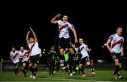 19 September 2018; Bohemians players, including Oscar Brennan, centre, celebrate following the Irish Daily Mail FAI Cup Quarter-Final match between Derry City and Bohemians at the Brandywell Stadium in Derry. Photo by Stephen McCarthy/Sportsfile
