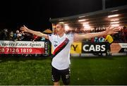 19 September 2018; Daniel Kelly of Bohemians celebrates his side's third goal during the Irish Daily Mail FAI Cup Quarter-Final match between Derry City and Bohemians at the Brandywell Stadium in Derry. Photo by Stephen McCarthy/Sportsfile
