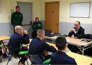 20 September 2018; Republic of Ireland manager Martin O'Neill during a visit to the FAI and Fingal County Council Transition Year Football Development Course at Corduff Sports Centre in Blanchardstown, Dublin. Photo by Stephen McCarthy/Sportsfile