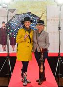 20 September 2018; Winner of the Etihad Airways Best Dressed 'Country Style' competition, Evelyn Johnston, from Co Clare, left, and runner up Mary O'Halloran, from Co Dublin at the National Ploughing Championship in Screggan, Tullamore, Co. Offaly. This year's prize includes two return economy flights from Dublin to Abu Dhabi, a two-night stay in the luxury 5-Star Emirates Palace, a two-night stay in the prominent 5-Star Anantara Eastern Mangroves & Spa Hotel and two complimentary passes for Yas Island. Photo by David Fitzgerald/Sportsfile