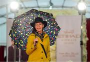 20 September 2018; Winner of the Best Dressed 'Country Style' competition Evelyn Johnston from Co. Clare at the National Ploughing Championship in Screggan, Tullamore, Co. Offaly. This year's prize includes two return economy flights from Dublin to Abu Dhabi, a two-night stay in the luxury 5-Star Emirates Palace, a two-night stay in the prominent 5-Star Anantara Eastern Mangroves & Spa Hotel and two complimentary passes for Yas Island. Photo by David Fitzgerald/Sportsfile