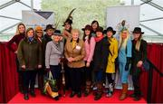 20 September 2018; Contestants of the Etihad Airways Best Dressed 'Country Style' competition with Shannon O'Dowd of Ethiad Airways, left, MD of the National Ploughing Associaton, Anna May McHugh, centre, and Brigid Dooley-Kealey, Fashion Show Director at the National Ploughing Championship in Screggan, Tullamore, Co. Offaly. This year's prize includes two return economy flights from Dublin to Abu Dhabi, a two-night stay in the luxury 5-Star Emirates Palace, a two-night stay in the prominent 5-Star Anantara Eastern Mangroves & Spa Hotel and two complimentary passes for Yas Island. Photo by David Fitzgerald/Sportsfile
