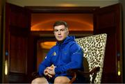 21 September 2018; Luke McGrath poses for a portrait following a Leinster rugby press conference at the InterContinental Dublin in Ballsbridge, Dublin. Photo by Ramsey Cardy/Sportsfile