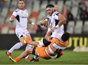 21 September 2018; Marcell Coetzee of Ulster is tackled by William Small-Smith of Toyota Cheetahs during the Guinness PRO14 Round 4 match between Toyota Cheetahs and Ulster at Toyota Stadium in Bloemfontein, South Africa. Photo by John Pretorius/Sportsfile