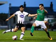 21 September 2018; Patrick Hoban of Dundalk in action against Conor McCarthy of Cork City during the SSE Airtricity League Premier Division match between Cork City and Dundalk at Turners Cross in Cork. Photo by Stephen McCarthy/Sportsfile