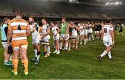 21 September 2018; Players from both teams shake hands following the Guinness PRO14 Round 4 match between Toyota Cheetahs and Ulster at Toyota Stadium in Bloemfontein, South Africa. Photo by Johan Pretorius/Sportsfile