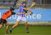 21 September 2018; Conal Keaney of Ballyboden St Enda's scores his side's first goal despite the efforts of Brian Smith of Ballinteer St John's during the Dublin County Senior Club Hurling Championship Quarter-Final match between Ballyboden St Enda's and Ballinteer St John's at Parnell Park, Dublin. Photo by Piaras Ó Mídheach/Sportsfile