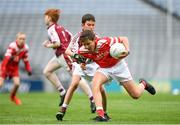 22 September 2018; Eoin Canning of Padraig Pearses in action against Rory Gleeson of Annaghdown during the Littlewoods Ireland Connacht Provincial Days Go Games in Croke Park. This year over 6,000 boys and girls aged between six and eleven represented their clubs in a series of mini blitzes and – just like their heroes – got to play in Croke Park. For exclusive content and behind the scenes action follow Littlewoods Ireland on Facebook, Instagram, Twitter and https://blog.littlewoodsireland.ie/ Photo by Eóin Noonan/Sportsfile