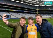 22 September 2018; The 2 Johnnies take a selfie with Patrick Barrett, age 12 from Owenmore Gaels, Co. Sligo, during the Littlewoods Ireland Connacht Provincial Days Go Games in Croke Park. This year over 6,000 boys and girls aged between six and eleven represented their clubs in a series of mini blitzes and – just like their heroes – got to play in Croke Park. For exclusive content and behind the scenes action follow Littlewoods Ireland on Facebook, Instagram, Twitter and https://blog.littlewoodsireland.ie/ Photo by Eóin Noonan/Sportsfile