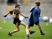 22 September 2018; Johnathan Boyle of Bornacoola, Co Leitrim scores a goal past Colin Drury of Western Gaels, Co Sligo during the Littlewoods Ireland Connacht Provincial Days Go Games in Croke Park. This year over 6,000 boys and girls aged between six and eleven represented their clubs in a series of mini blitzes and – just like their heroes – got to play in Croke Park. For exclusive content and behind the scenes action follow Littlewoods Ireland on Facebook, Instagram, Twitter and https://blog.littlewoodsireland.ie/ Photo by Eóin Noonan/Sportsfile