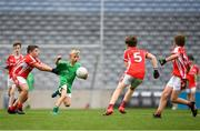 22 September 2018; Daniel McSharry of St. Molaise Gaels, Co. Sligo in action against Bohola Moy Davitts, Co. Mayo during the Littlewoods Ireland Connacht Provincial Days Go Games in Croke Park. This year over 6,000 boys and girls aged between six and eleven represented their clubs in a series of mini blitzes and – just like their heroes – got to play in Croke Park. For exclusive content and behind the scenes action follow Littlewoods Ireland on Facebook, Instagram, Twitter and https://blog.littlewoodsireland.ie/ Photo by Eóin Noonan/Sportsfile