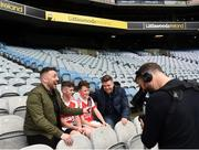 22 September 2018; The 2 Johnnies interview John Gavin, age 12, and Callum King age 12 from Clifton, Co. Galway during the Littlewoods Ireland Connacht Provincial Days Go Games in Croke Park. This year over 6,000 boys and girls aged between six and eleven represented their clubs in a series of mini blitzes and – just like their heroes – got to play in Croke Park. For exclusive content and behind the scenes action follow Littlewoods Ireland on Facebook, Instagram, Twitter and https://blog.littlewoodsireland.ie/ Photo by Eóin Noonan/Sportsfile