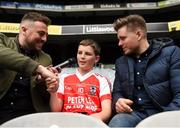 22 September 2018; The 2 Johnnies interview Cillian Gannon, age 12 from Clifton, Co. Galway during the Littlewoods Ireland Connacht Provincial Days Go Games in Croke Park. This year over 6,000 boys and girls aged between six and eleven represented their clubs in a series of mini blitzes and – just like their heroes – got to play in Croke Park. For exclusive content and behind the scenes action follow Littlewoods Ireland on Facebook, Instagram, Twitter and https://blog.littlewoodsireland.ie/ Photo by Eóin Noonan/Sportsfile