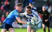 22 September 2018; Tommy O'Reilly of Breaffy in action against Eoghan McLaughlin of Westport during the Mayo County Senior Club Football Championship Quarter-Final match between Westport and Breaffy at Elvery's MacHale Park in Mayo. Photo by Matt Browne/Sportsfile