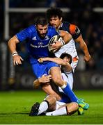 22 September 2018; Robbie Henshaw of Leinster is tackled by Chris Dean of Edinburgh during the Guinness PRO14 Round 4 match between Leinster and Edinburgh at the RDS Arena in Dublin. Photo by David Fitzgerald/Sportsfile