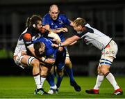22 September 2018; Cian Healy of Leinster is tackled by Ben Toolis of Edinburgh during the Guinness PRO14 Round 4 match between Leinster and Edinburgh at the RDS Arena in Dublin. Photo by David Fitzgerald/Sportsfile