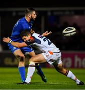 22 September 2018; Robbie Henshaw of Leinster in action against Simon Hickey of Edinburgh during the Guinness PRO14 Round 4 match between Leinster and Edinburgh at the RDS Arena in Dublin. Photo by David Fitzgerald/Sportsfile