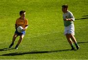 23 September 2018; Jack Attard, of Glencar Manorhamilton, Co Leitrim, left, in action against Jonathan Groenewald of St Barry's, Co Roscommon, during the Littlewoods Ireland Connacht Provincial Days Go Games in Croke Park. This year over 6,000 boys and girls aged between six and eleven represented their clubs in a series of mini blitzes and – just like their heroes – got to play in Croke Park. For exclusive content and behind the scenes action follow Littlewoods Ireland on Facebook, Instagram, Twitter and https://blog.littlewoodsireland.ie/ Photo by Piaras Ó Mídheach/Sportsfile