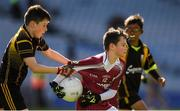 23 September 2018; Jack Breheny of Shamrock Gaels, Co Sligo, in action against Ryan Smyth of Ballinasloe, Co Galway, during the Littlewoods Ireland Connacht Provincial Days Go Games in Croke Park. This year over 6,000 boys and girls aged between six and eleven represented their clubs in a series of mini blitzes and – just like their heroes – got to play in Croke Park. For exclusive content and behind the scenes action follow Littlewoods Ireland on Facebook, Instagram, Twitter and https://blog.littlewoodsireland.ie/ Photo by Piaras Ó Mídheach/Sportsfile