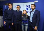 22 September 2018; Leinster players Rhys Rhuddock, Dave Kearney and Barry Daly meet and greet supporters in the 'Blue Room' prior to the Guinness PRO14 Round 4 match between Leinster and Edinburgh at RDS Arena in Dublin. Photo by David Fitzgerald/Sportsfile