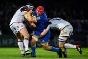 22 September 2018; Josh van der Flier of Leinster is tackled by Magnus Bradbury, left, and Luke Hamilton of Edinburgh during the Guinness PRO14 Round 4 match between Leinster and Edinburgh at the RDS Arena in Dublin. Photo by Ramsey Cardy/Sportsfile