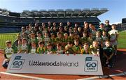23 September 2018; The Claregalway, Co Galway, team at the Littlewoods Ireland Connacht Provincial Days Go Games in Croke Park. This year over 6,000 boys and girls aged between six and eleven represented their clubs in a series of mini blitzes and – just like their heroes – got to play in Croke Park. For exclusive content and behind the scenes action follow Littlewoods Ireland on Facebook, Instagram, Twitter and https://blog.littlewoodsireland.ie/ Photo by Piaras Ó Mídheach/Sportsfile