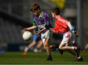 23 September 2018; Action between Leitrim Gaels, Co Leitrim, and Ballintubber, Co Mayo, during the Littlewoods Ireland Connacht Provincial Days Go Games in Croke Park. This year over 6,000 boys and girls aged between six and eleven represented their clubs in a series of mini blitzes and – just like their heroes – got to play in Croke Park. For exclusive content and behind the scenes action follow Littlewoods Ireland on Facebook, Instagram, Twitter and https://blog.littlewoodsireland.ie/ Photo by Piaras Ó Mídheach/Sportsfile