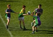 23 September 2018; Tomás McGrath of Claregalway, Co Galway, in action against Leitrim Gaels, Co Leitrim, during the Littlewoods Ireland Connacht Provincial Days Go Games in Croke Park. This year over 6,000 boys and girls aged between six and eleven represented their clubs in a series of mini blitzes and – just like their heroes – got to play in Croke Park. For exclusive content and behind the scenes action follow Littlewoods Ireland on Facebook, Instagram, Twitter and https://blog.littlewoodsireland.ie/ Photo by Piaras Ó Mídheach/Sportsfile