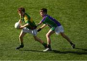 23 September 2018; Tomás McGrath of Claregalway, Co Galway, left, in action against Rosco McDaid Leitrim Gaels, Co Leitrim, during the Littlewoods Ireland Connacht Provincial Days Go Games in Croke Park. This year over 6,000 boys and girls aged between six and eleven represented their clubs in a series of mini blitzes and – just like their heroes – got to play in Croke Park. For exclusive content and behind the scenes action follow Littlewoods Ireland on Facebook, Instagram, Twitter and https://blog.littlewoodsireland.ie/ Photo by Piaras Ó Mídheach/Sportsfile