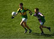 23 September 2018; Daniel Fitzmaurice of Claregalway, Co Galway, left, in action against Dorian Wozniak of Leitrim Gaels, Co Leitrim, during the Littlewoods Ireland Connacht Provincial Days Go Games in Croke Park. This year over 6,000 boys and girls aged between six and eleven represented their clubs in a series of mini blitzes and – just like their heroes – got to play in Croke Park. For exclusive content and behind the scenes action follow Littlewoods Ireland on Facebook, Instagram, Twitter and https://blog.littlewoodsireland.ie/ Photo by Piaras Ó Mídheach/Sportsfile