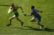 23 September 2018; Daniel Fitzmaurice of Claregalway, Co Galway, left, in action against Rosco McDaid of Leitrim Gaels, Co Leitrim, during the Littlewoods Ireland Connacht Provincial Days Go Games in Croke Park. This year over 6,000 boys and girls aged between six and eleven represented their clubs in a series of mini blitzes and – just like their heroes – got to play in Croke Park. For exclusive content and behind the scenes action follow Littlewoods Ireland on Facebook, Instagram, Twitter and https://blog.littlewoodsireland.ie/ Photo by Piaras Ó Mídheach/Sportsfile