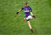 23 September 2018; Matthew O'Boyle of Leitrim Gaels, Co Leitrim, during the Littlewoods Ireland Connacht Provincial Days Go Games in Croke Park. This year over 6,000 boys and girls aged between six and eleven represented their clubs in a series of mini blitzes and – just like their heroes – got to play in Croke Park. For exclusive content and behind the scenes action follow Littlewoods Ireland on Facebook, Instagram, Twitter and https://blog.littlewoodsireland.ie/ Photo by Piaras Ó Mídheach/Sportsfile