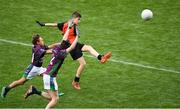 23 September 2018; Action from Claregalway, Co Galway, and Leitrim Gaels, Co Leitrim, during the Littlewoods Ireland Connacht Provincial Days Go Games in Croke Park. This year over 6,000 boys and girls aged between six and eleven represented their clubs in a series of mini blitzes and – just like their heroes – got to play in Croke Park. For exclusive content and behind the scenes action follow Littlewoods Ireland on Facebook, Instagram, Twitter and https://blog.littlewoodsireland.ie/ Photo by Piaras Ó Mídheach/Sportsfile