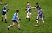 23 September 2018; Luke Aldridge of Leitrim Gaels, Co Leitrim, left, in action against Headford, Co Galway, during the Littlewoods Ireland Connacht Provincial Days Go Games in Croke Park. This year over 6,000 boys and girls aged between six and eleven represented their clubs in a series of mini blitzes and – just like their heroes – got to play in Croke Park. For exclusive content and behind the scenes action follow Littlewoods Ireland on Facebook, Instagram, Twitter and https://blog.littlewoodsireland.ie/ Photo by Piaras Ó Mídheach/Sportsfile