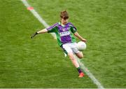 23 September 2018; Seán McKeown of Leitrim Gaels, Co Leitrim, during the Littlewoods Ireland Connacht Provincial Days Go Games in Croke Park. This year over 6,000 boys and girls aged between six and eleven represented their clubs in a series of mini blitzes and – just like their heroes – got to play in Croke Park. For exclusive content and behind the scenes action follow Littlewoods Ireland on Facebook, Instagram, Twitter and https://blog.littlewoodsireland.ie/ Photo by Piaras Ó Mídheach/Sportsfile