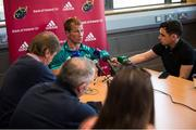 24 September 2018; Forwards coach Jerry Flannery speaking to reporters during a Munster Rugby press conference at the University of Limerick in Limerick. Photo by Diarmuid Greene/Sportsfile