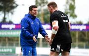 24 September 2018; Scrum coach John Fogarty, left, and Tadhg Furlong during Leinster Rugby Squad Training at Energia Park in Dublin. Photo by Sam Barnes/Sportsfile