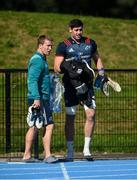 24 September 2018; Forwards coach Jerry Flannery and Dave O'Callaghan arrive for Munster Rugby squad training at the University of Limerick in Limerick. Photo by Diarmuid Greene/Sportsfile