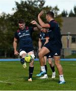 24 September 2018; Peter O'Mahony in action against Dan Goggin during Munster Rugby squad training at the University of Limerick in Limerick. Photo by Diarmuid Greene/Sportsfile