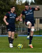 24 September 2018; Peter O'Mahony alongside team-mate Ronan O'Mahony, left, during Munster Rugby squad training at the University of Limerick in Limerick. Photo by Diarmuid Greene/Sportsfile