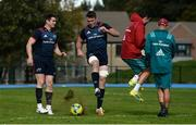 24 September 2018; Peter O'Mahony alongside team-mate Ronan O'Mahony, left, backline and attack coach Felix Jones and defence coach JP Ferreira, right, during Munster Rugby squad training at the University of Limerick in Limerick. Photo by Diarmuid Greene/Sportsfile