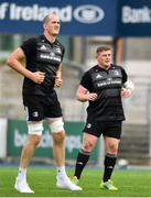 24 September 2018; Tadhg Furlong, right, and Devin Toner during Leinster Rugby Squad Training at Energia Park in Dublin. Photo by Sam Barnes/Sportsfile