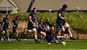 24 September 2018; Billy Holland gets away from Bill Johnston during Munster Rugby squad training at the University of Limerick in Limerick. Photo by Diarmuid Greene/Sportsfile