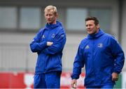 24 September 2018; Head coach Leo Cullen, left, and Scrum coach John Fogarty during Leinster Rugby Squad Training at Energia Park in Dublin. Photo by Sam Barnes/Sportsfile