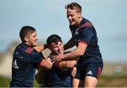 24 September 2018; Dan Goggin, Calvin Nash and Mike Haley during Munster Rugby squad training at the University of Limerick in Limerick. Photo by Diarmuid Greene/Sportsfile