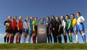 24 September 2018; In attendance are the Women's Colleges and Universities teams during the Rustlers Third Level Season Launch at Campus Conference Centre, in FAI HQ, Dublin. Photo by David Fitzgerald/Sportsfile